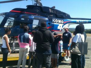 Future Aviators 2013 Flying Day - Helicopter Static KOMO TV 4 Display #1